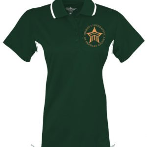 Tripped Color Block Wicking Polo (Lady)